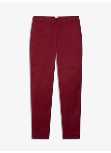 Gap Streç Girlfriend Chino Pantolon Kırmızı